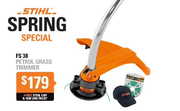Receive a FREE gift with every purchase of a FS 38 Grass Trimmer