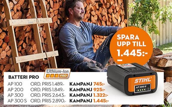 Extrabatteri 50% rabatt