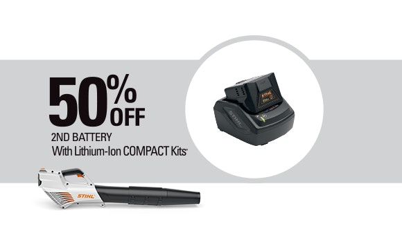 Receive 50% off 2nd battery with Compact Kits